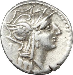 obverse: D. Iunius Silanus. AR Denarius, 91 BC