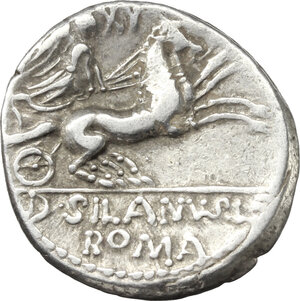 reverse: D. Iunius Silanus. AR Denarius, 91 BC