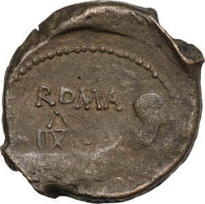 reverse: Anonymous. AE As, 91 BC