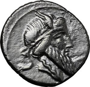 obverse: Q. Titius. AR Denarius, 90 BC