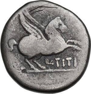 reverse: Q. Titius. Quinarius, 90 BC