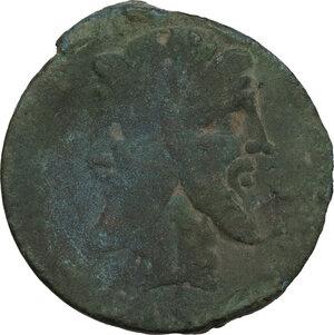obverse: Q. Titius. AE As. 90 BC