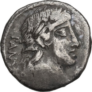 obverse: C. Vibius Pansa. Denarius, Rome mint, 90 BC