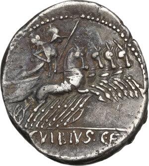 reverse: C. Vibius Pansa. AR Denarius, 90 BC