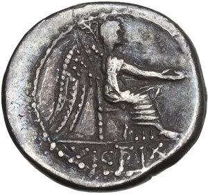 reverse: M. Cato. Quinarius, 89 BC