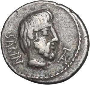 obverse: L. Titurius L.f. Sabinus. Denarius, 89 BC