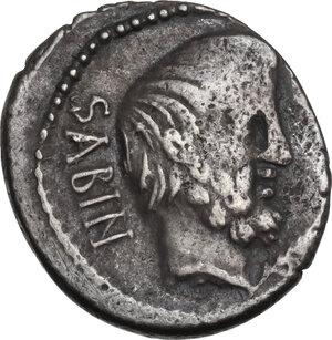 obverse: L. Titurius L.f. Sabinus. AR Denarius, Rome mint, 89 BC