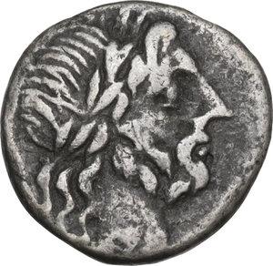 obverse: Cn. Cornelius Lentulus Clodianus. Quinarius, Rome mint, 88 AD