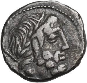 L. Rubrius Dossenus. Denarius, Rome mint 87 BC