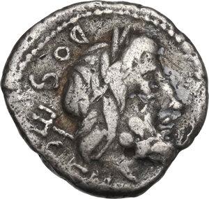 obverse: L. Rubrius Dossenus. Quinarius, Rome mint, 87 BC