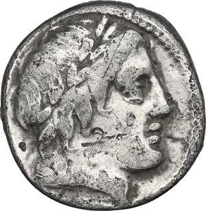 obverse: C. Gargilius, Ogulnius and M. Vergilius (or Verginius). Denarius, Rome mint, 86 BC