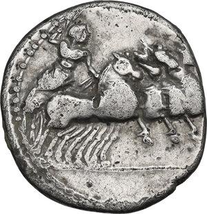 reverse: C. Gargilius, Ogulnius and M. Vergilius (or Verginius). Denarius, Rome mint, 86 BC
