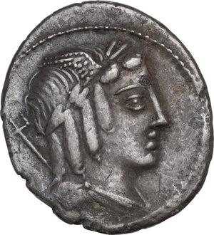 obverse: L. Julius Bursio.. Denarius, Rome mint, 85 BC