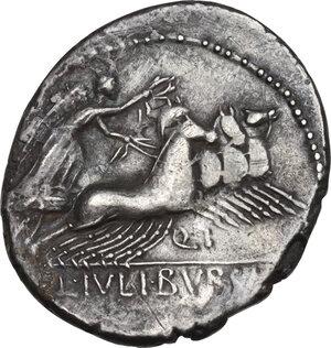 reverse: L. Julius Bursio.. Denarius, Rome mint, 85 BC