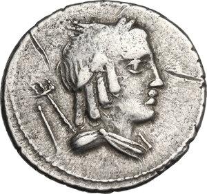 obverse: L. Julius Bursio.. AR Denarius, 85 BC
