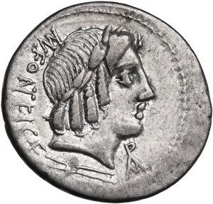 obverse: Mn. Fonteius. AR Denarius, 85 BC