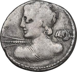 obverse: C. Licinius Macer. Denarius, Rome mint, 84 BC