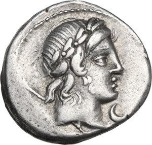 obverse: P. Crepusius . AR Denarius, 82 BC