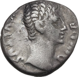 obverse: Augustus (27 BC - 14 AD).. AR Denarius, Lugdunum mint, 12 BC