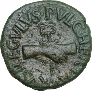 obverse: Augustus (27 BC - 14 AD).. AE Quadrans, 8 BC