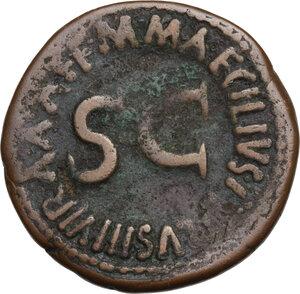 reverse: Augustus (27 BC - 14 AD).. AE As, 7 BC