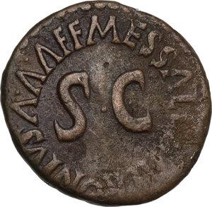 reverse: Augustus (27 BC - 14 AD).. AE Quadrans, 5 BC