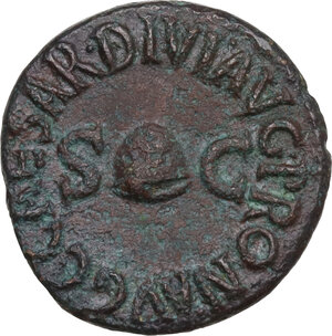 obverse: Caligula (37-41).. AE Quadrans, 40-41