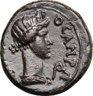 reverse: Claudius (41-54) to Nero (54-68).. AE 17 mm, Mysia, Pergamon mint, Pseudo-autonomous issue, 40-60
