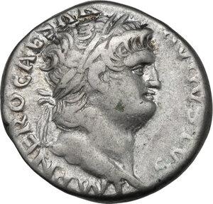 obverse: Nero (54-68).. AR Denarius, 66-67