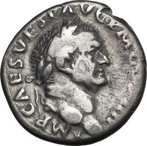 obverse: Vespasian (69-79).. AR Denarius, 72-73
