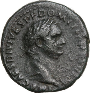 obverse: Domitian (81-96).. AE As, 82 AD
