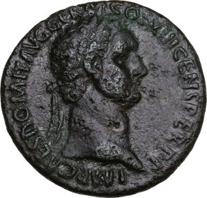 obverse: Domitian (81-96).. AE As, 87 AD