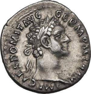obverse: Domitian (81-96).. AR Denarius, 90-91