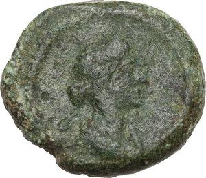 obverse: Anonymous Quadrantes. Period of Domitian to Antoninus Pius. . AE Quadrans