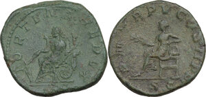 reverse: Gordian III (238-244).. Lot of two (2) AE Sestertii