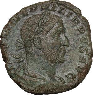 obverse: Philip I (244-249).. AE Sestertius, 246 AD
