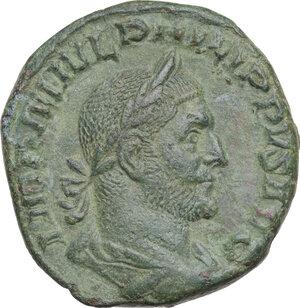 obverse: Philip I (244-249).. AE Sestertius, 248 AD
