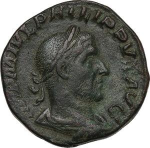 obverse: Philip I (244-249).. AE Sestertius