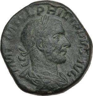obverse: Philip I (244-249).. AE Sestertius, 244-249 AD