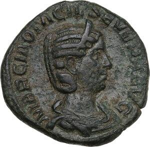obverse: Otacilia Severa, wife of Philip I (244-249).. AE Sestertius, 248 AD