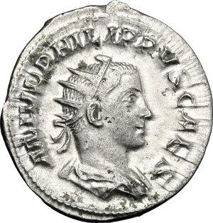 obverse: Philip II (244-249).. AR Antoninianus, 244-246