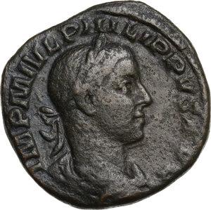 obverse: Philip II (244-249).. AE Sestertius