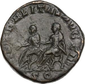 reverse: Philip II (244-249).. AE Sestertius