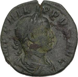 obverse: Philip II (244-249).. AE Sestertius, 246-249