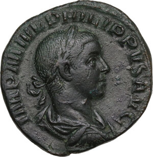 obverse: Philip II (244-249).. AE Sestertius, 246-248
