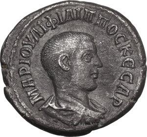 obverse: Philip II (244-249).. AR Tetradrachm, Antioch mint (Syria, Seleucis and Piera), 244 AD