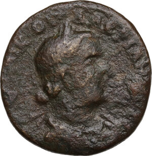 obverse: Valerian I (253-260).. AE Hexassarion, dated year 272 CY (253/254 AD), Anazarbus mint, Cilicia