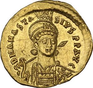 obverse: Anastasius I (491-518).. AV Solidus, 507-518. Constantinople mint, 6th officina