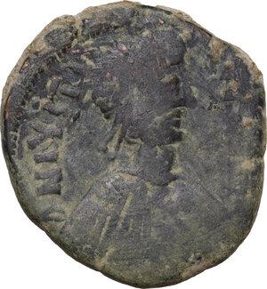 obverse: Justin I (518-527).. AE Follis, Cyzicus mint, 518-522