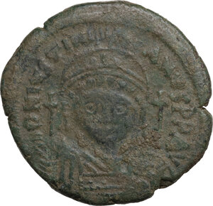 obverse: Justinian I (527-565).. AE Follis, Constantinople mint, dated RY 19 (545/546)